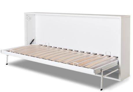 Armadio letto singolo con apertura orizzontale.