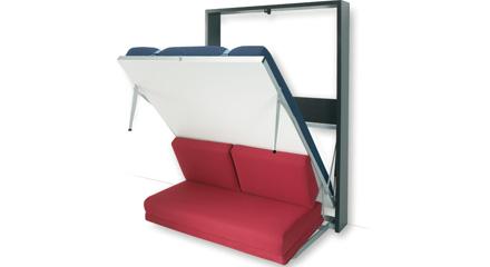 Letto a scomparsa con divano robusto qualit e convenienza - Meccanismo per letto a scomparsa ...