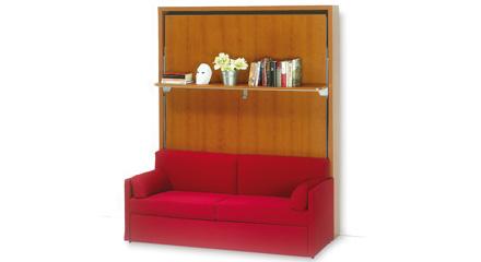 Letto a scomparsa con divano e libreria qualit e convenienza - Libreria con letto a scomparsa ...