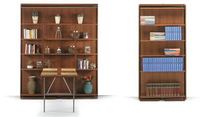 Letto a scomparsa con libreria qualit e convenienza for Mobile letto a scomparsa mondo convenienza